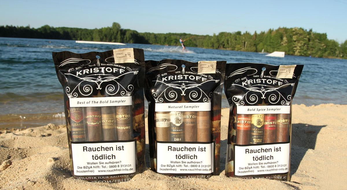 Kristoff Strandpakete ? 4 Zigarren Sampler im Freshpack